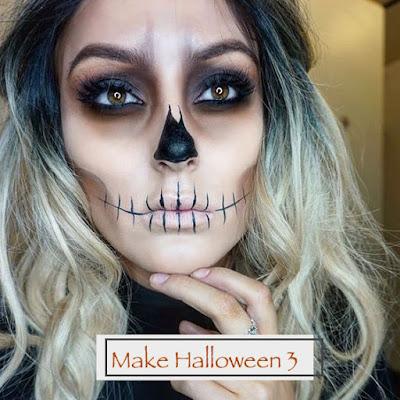 Maquiagem de Halloween 3: esqueleto