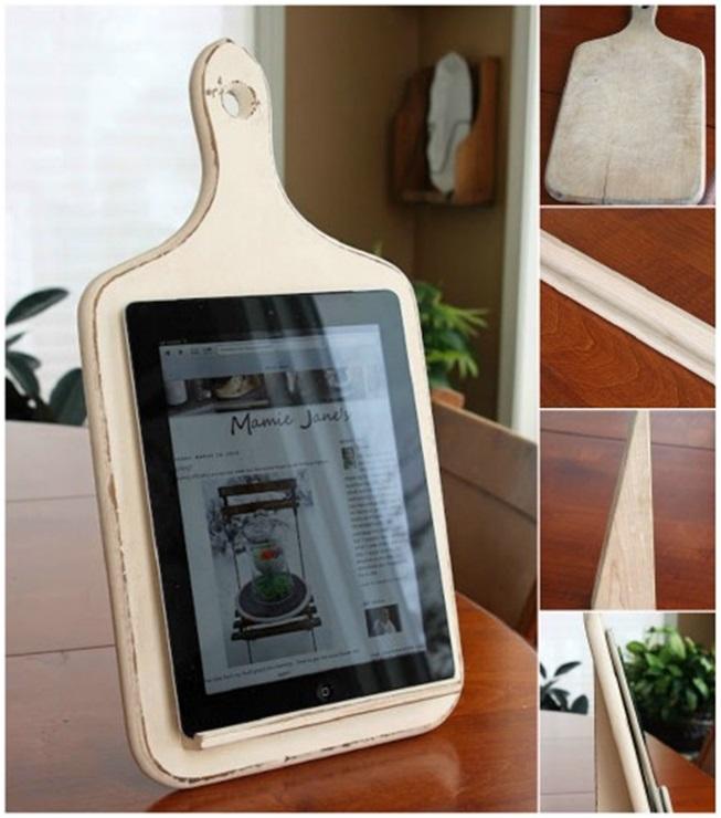 Ekmek Tahtasından Tablet Bilgisayar Tutacağı
