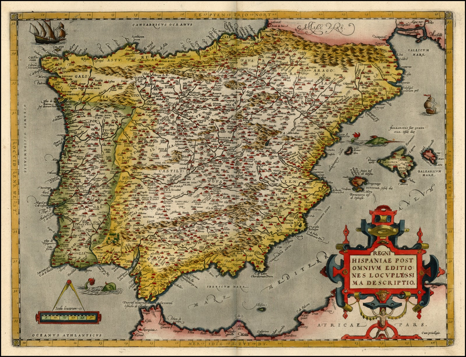 Antique Prints Blog  Historic Maps of Spain     Spain grew wealthier   from the richest pouring in from the Americas   and  European cartographers began to produce better and better maps