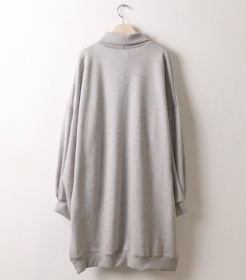 High Neck Pullover Dress
