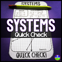Systems of equations quick check