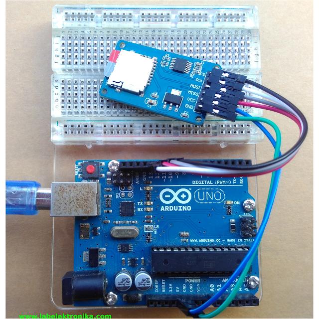 Tutorial micro sd atau sd card menggunakan arduino