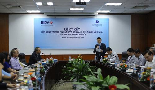 Lễ ký kết bảo lãnh tiến độ của BIDV cho dự án Rivera Park Hà Nội