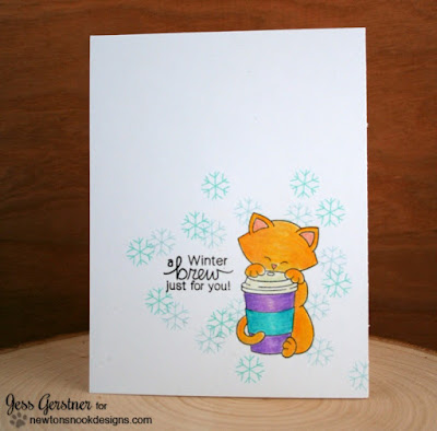 Newton Loves Coffee and Custom Sentiments by Jess Gerstner featuring Newton's Nook Designs