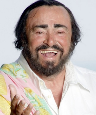 Foto de Luciano Pavarotti en la vejez