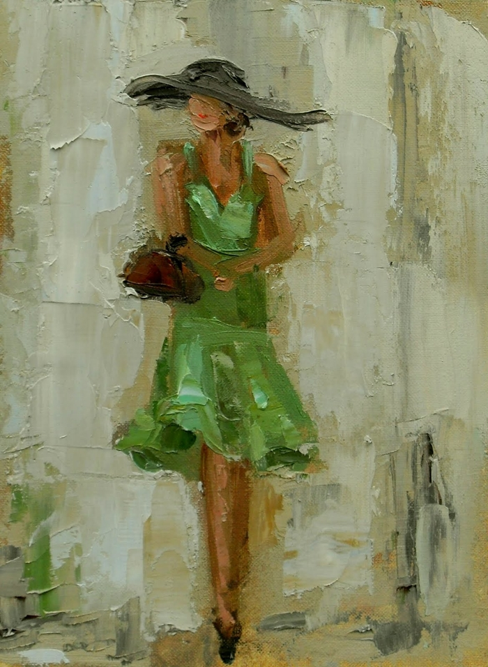 Oil Painting Ladies Birch