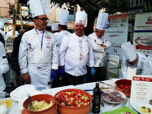 i cuochi a cibo nostrum 2018 a Taormina