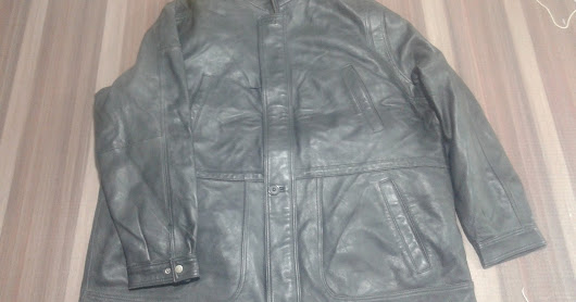 Leather Jacket in Over Size