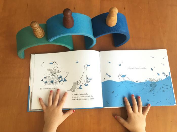 educación emocional niños cuentos curso, La oca azul Lilia, lata de sal