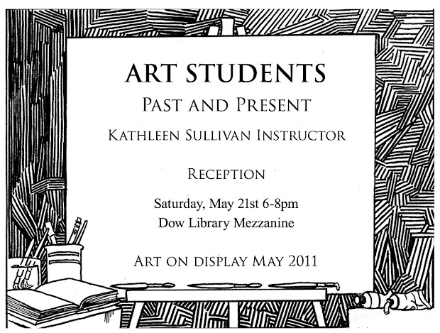 Erik Johnson Illustrator Art Student Show Invitation