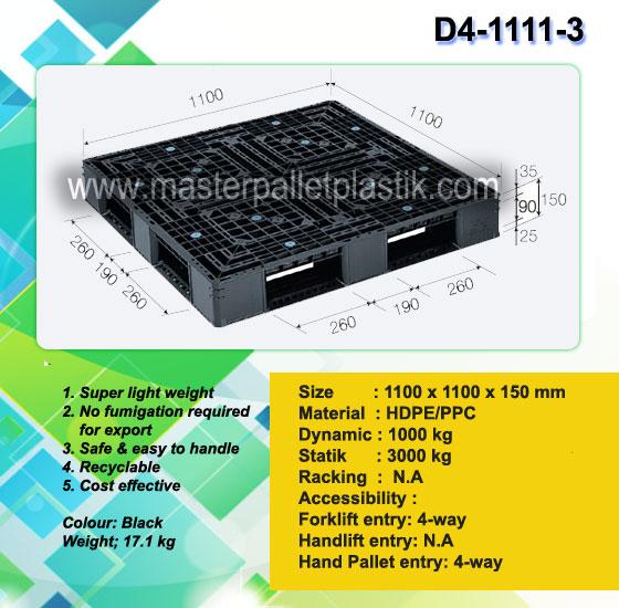 Harga Pallet Plastik D4-1111-3