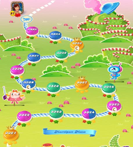 Candy Crush Saga level 3321-3335
