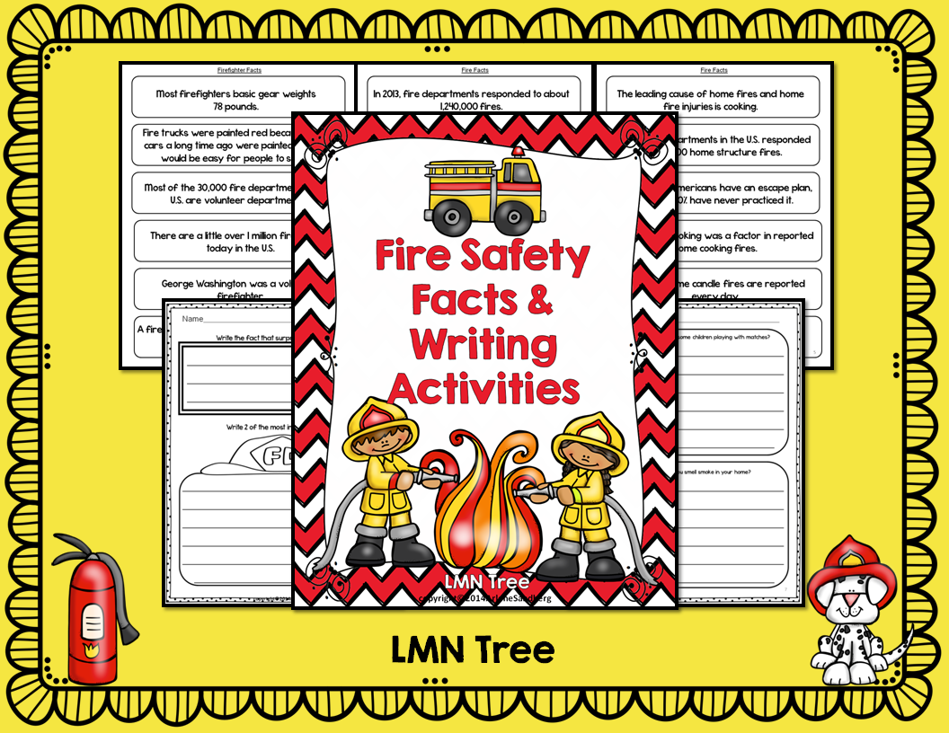 Fire Safety Facts And Writing Activities Packet