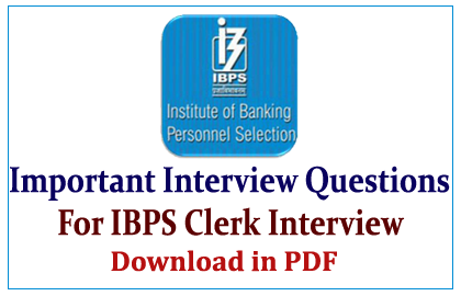 BPS Clerk Interview Questions in pdf