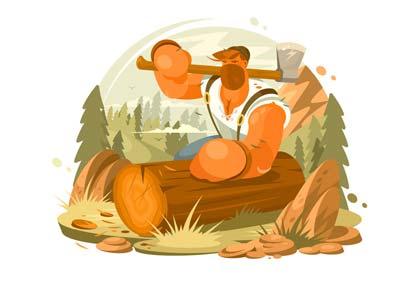 dongeng bahasa Inggris singkat the honest woodcutter