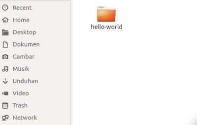 folder hello world