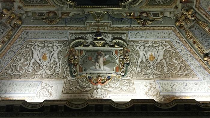 Mostra Jacopo Ligozzi Firenze - dettaglio di soffitto affrescati nella sala attigua alla Sala Bianca