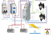 Esquema electrico telerruptor dos polos