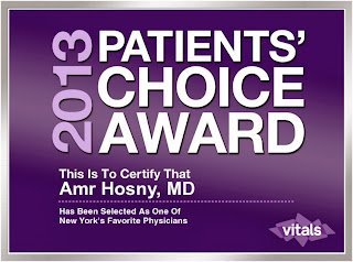 NYC Back Pain Doctor Dr. Hosny Named As One of New York's Favorite Physicians