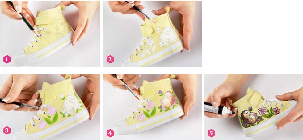 Рисуем на кедах.  Drawing on sneakers
