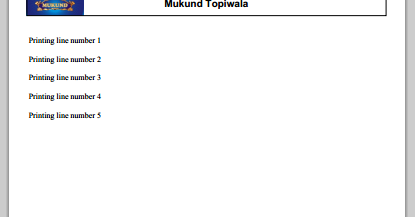 Mukund Topiwala: fpdf tutorials with examples