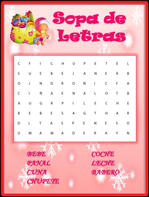 63 Info Ideas Juegos Baby Shower Sopa De Letras Para Imprimir Gratis