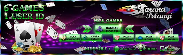 Sarana Pelangi Agen Judi Domino QQ, Bandar Poker Dan Bandar Qiu Qiu 99 Terpercaya Seasia