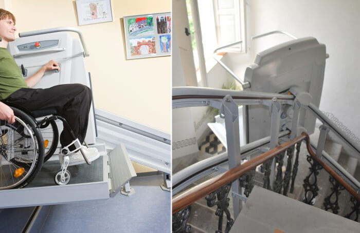 example of platform stairlifts in a home