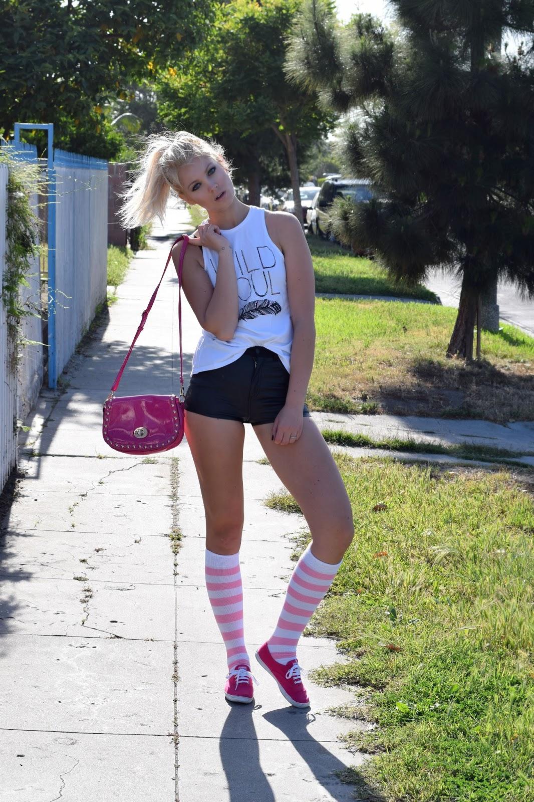 chrissy's socks, over the knee socks, socks, how to style socks, how to wear knee socks, how to wear over the knee socks, college style
