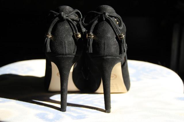 Michael Kors, suede, peep toe booties