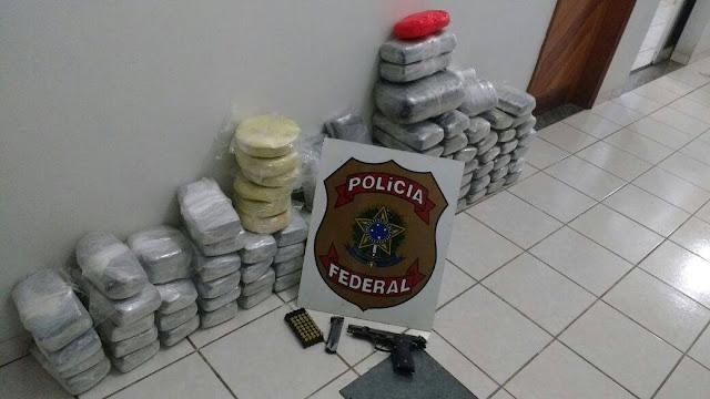 Polícia Federal apreende quase 100 Kilos de droga e prende quatro pessoas em Cruzeiro do Sul