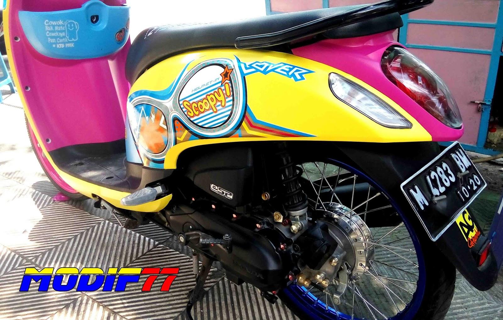 80 Gambar Modifikasi Scoopy Thailook Kumpulan Modifikasi Motor