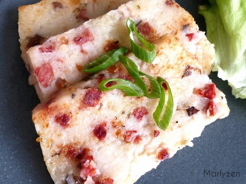 Lo bak go : pâté de radis chinois.