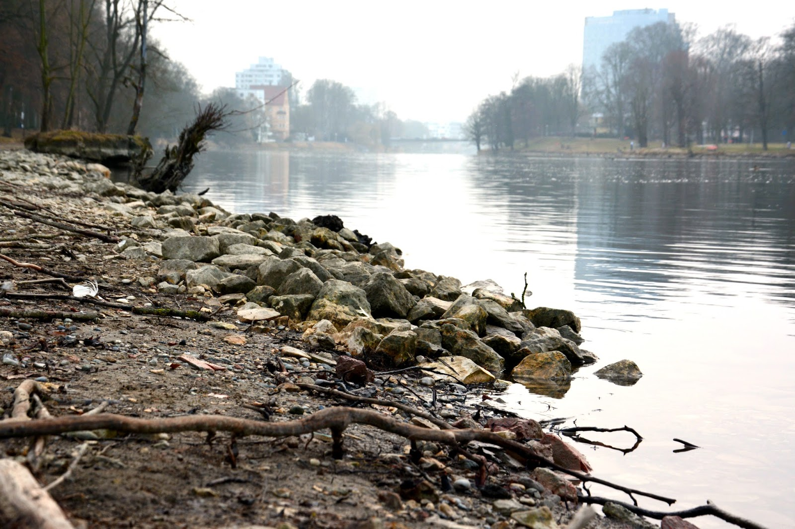 Riverside with stones, Donau, Ulm