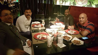 Syed Rizvi (Yasir) having party with Middle East Investor Mohammed Hussain at Middle east