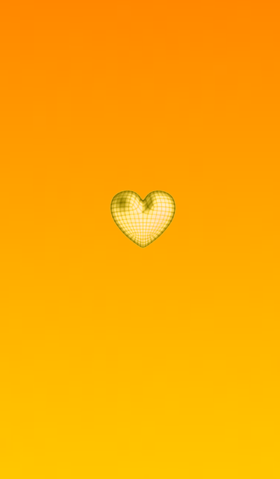 Wire Heart Yellow