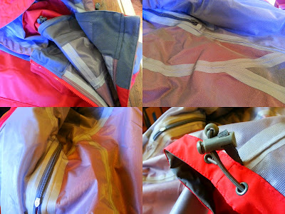 Trespass Ladies Raincoat Review - Kangchen Waterproof Windproof details