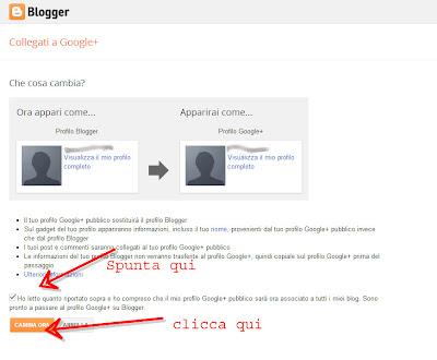 trasferimento google plus