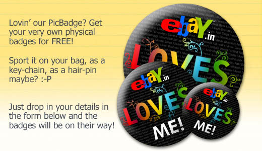 Get An EBay.In Badge For Free