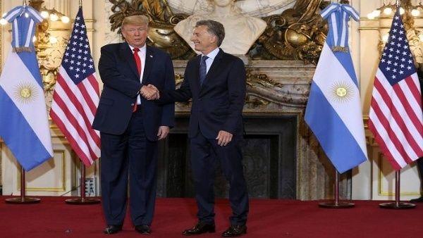"""Macri agradece apoyo de Trump en """"momentos difíciles"""""""