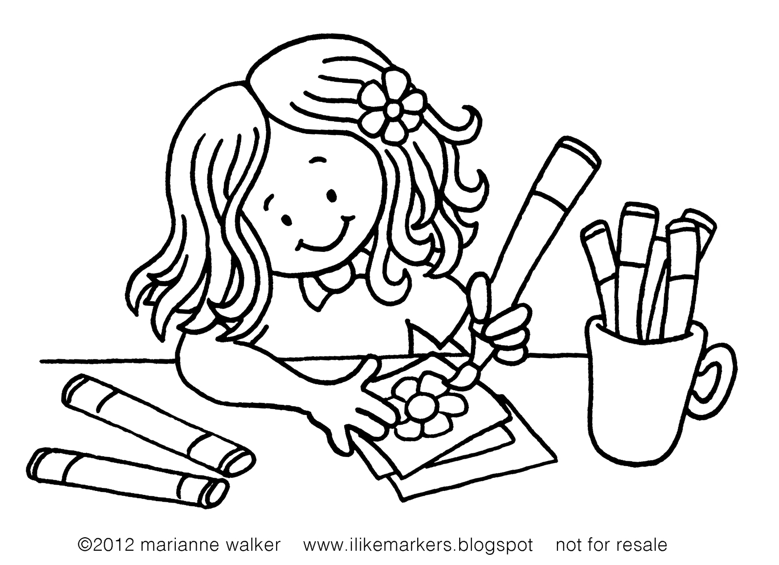 writing coloring pages | I Like Markers: Color with me!