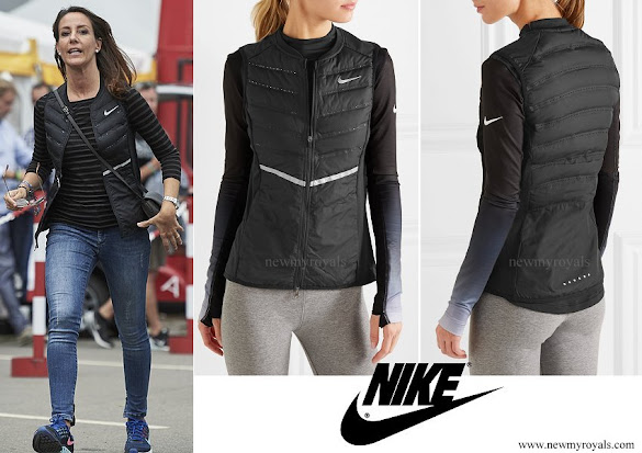 Princess Marie wore NIKE Aeroloft quilted shell down gilet