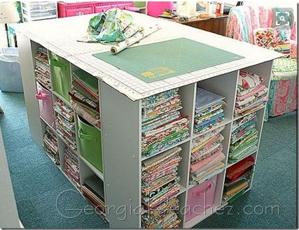 Of Course We Like To Display The Riches Of Those Fabrics Too! Grab That Old  Baby Crib And Use The Rails!