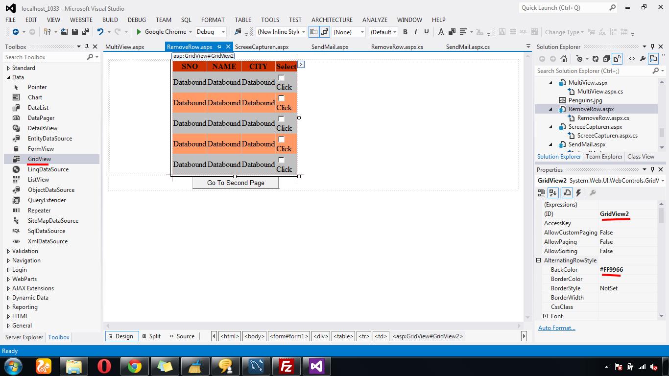 Gridview Click Row Redirect — Vermpengiter