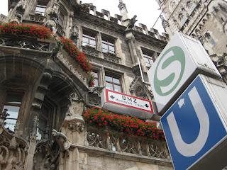 Exiting the Marienplatz station