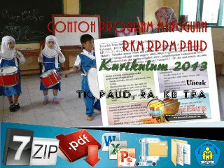 DOWNLOAD Contoh Program Mingguan RKM RPPM PAUD Kurikulum 2013
