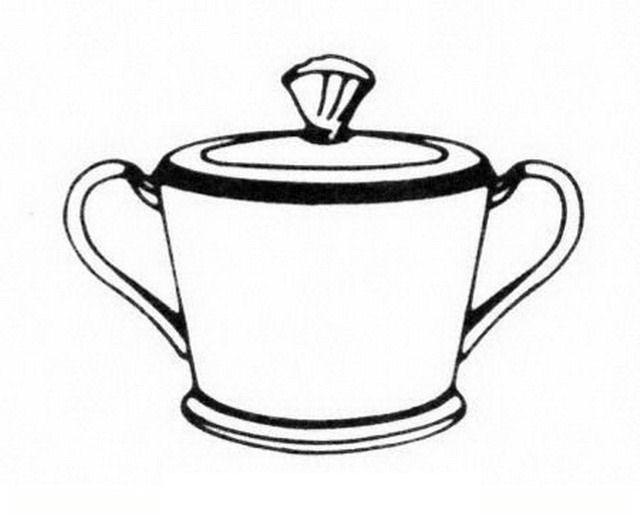 Recipiente Para Azúcar Para Colorear Dibujo Views
