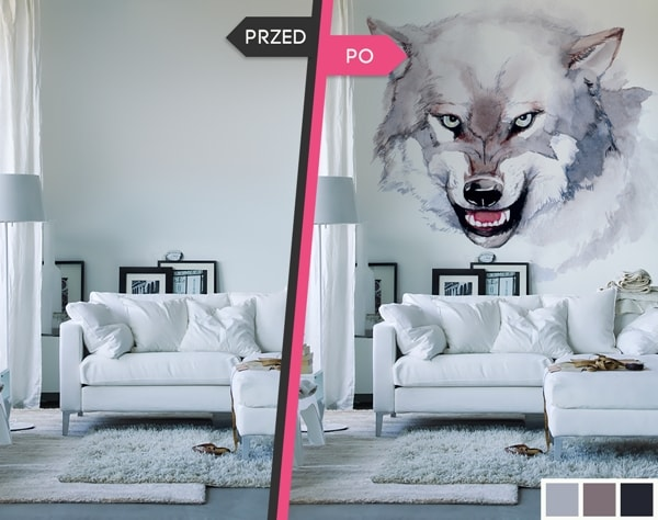Decoration With Photo Wall Murals, Before And After 1