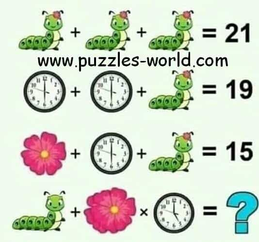 Caterpillar Flower Clock Puzzle