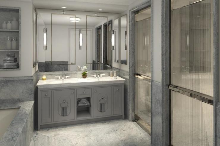 Light Grey Fitted BATHROOM FURNITURE Home Furniture Design Ideas